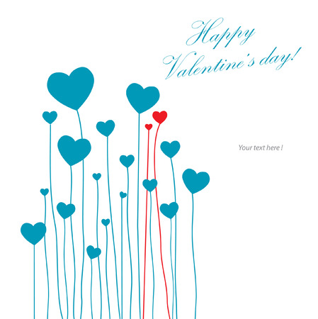 love card with hearts Vector