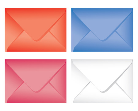 set colorful envelope Stock Vector - 6433994