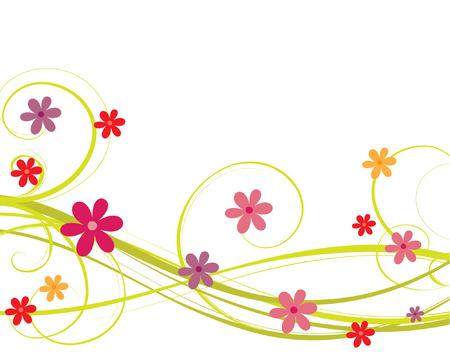 mars: arri�re-plan de fleur Illustration