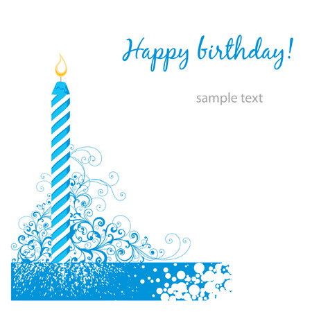 happy birthday card  Stock Vector - 7485990