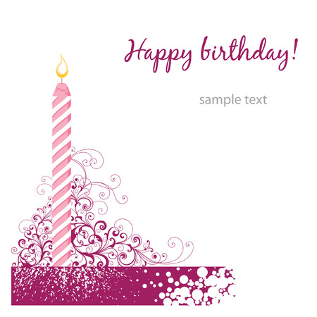 happy birthday card  Stock Vector - 7485991
