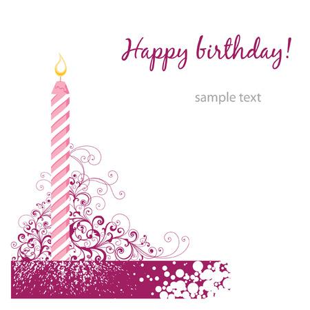 happy birthday card Stock Vector - 7485991