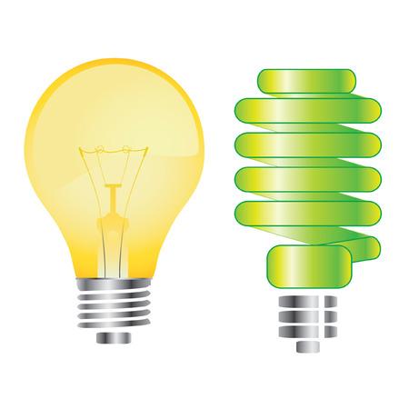 light bulbs: bombillas de luz  Vectores