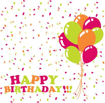 happy birthday card Stock Vector - 7485987