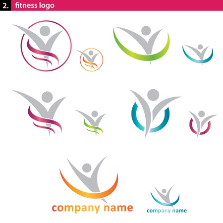 flexible woman: logotipo de aptitud