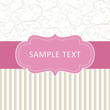 simple card with ornament Stock Vector - 11179579