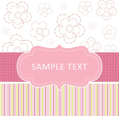 simple card with flowers Vector