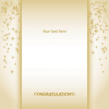 Congratulations card Stock Vector - 11664830
