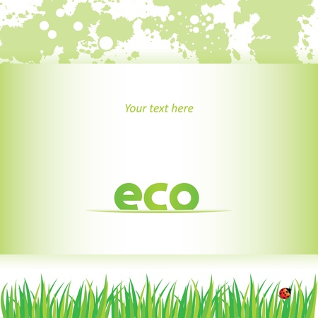 eco card Vector