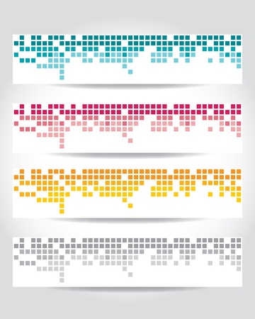 set of header design Vector