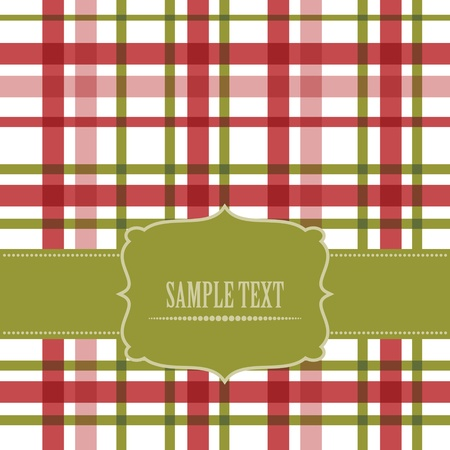 chequered ribbon: retro card