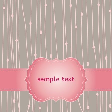 romantic pink card Stock Vector - 11874824