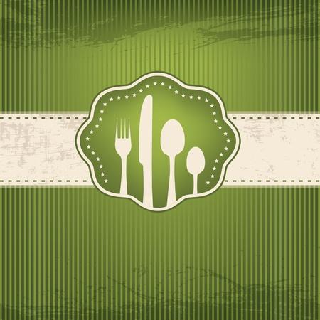 dessert fork:  Restaurant card