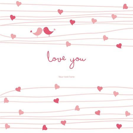 veréb: Szeretem aranyos névjegykártya Illusztráció