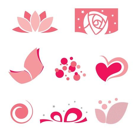 donna farfalla: serie di rosa simbolo
