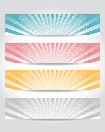 vector set of header design Vector