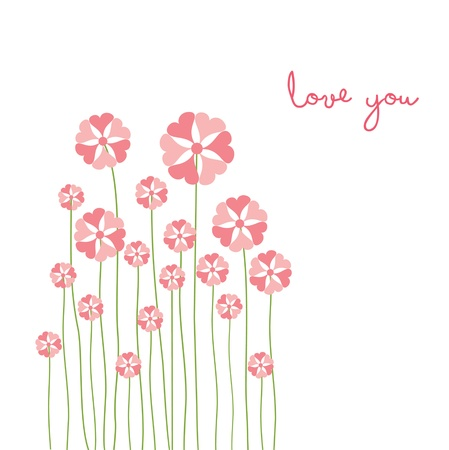love card with flower Vector