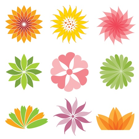 set of flower icon Stock Vector - 12173104