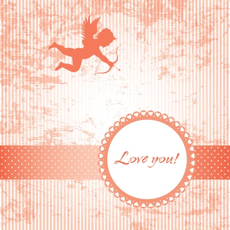 love vintage card Stock Vector - 12173109