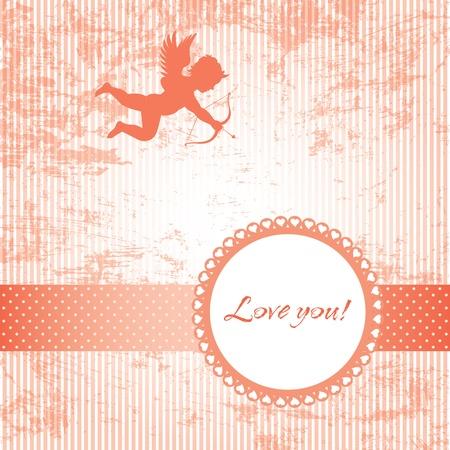 love vintage card Stock Vector - 12173109