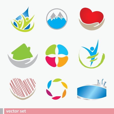 Icoon design elementen