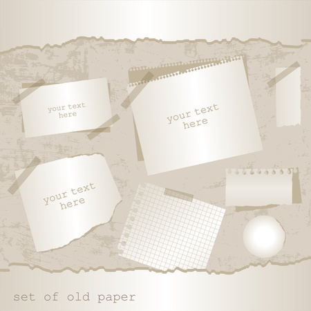set of old paper Vector