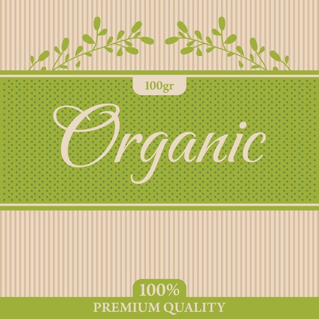 organic label Stock Vector - 12173115