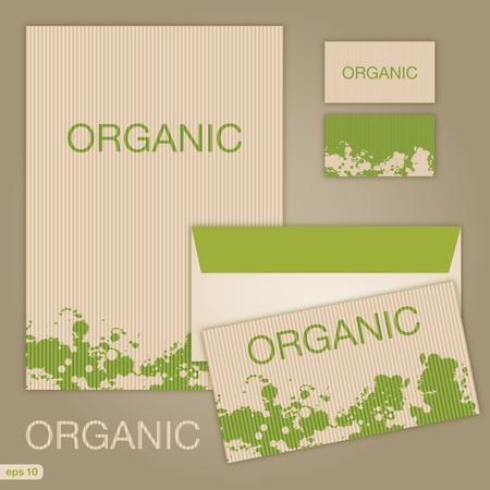card folder: set of oraganic style