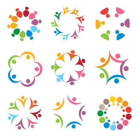 set of people icons Stock Vector - 12482560