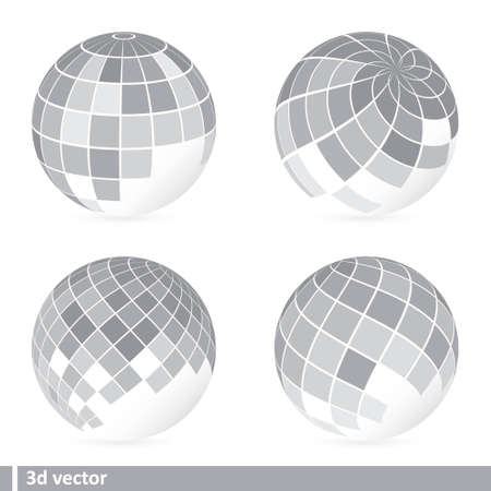 set of abstract mosaic 3d Stock Vector - 12482648