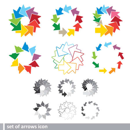 set of arrows icon Vector