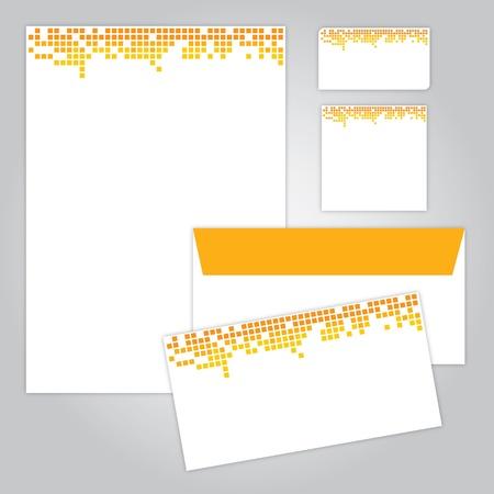 papier en t�te: identit� visuelle d'entreprise Illustration