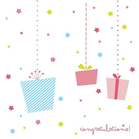 cute gift card Illustration