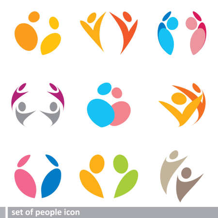 social gathering: set of people icon
