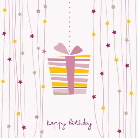 cute birthday card Stock Vector - 12800308