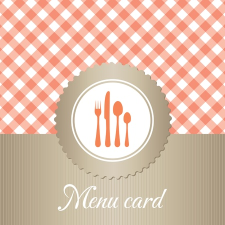 elegant restaurant menu card Stock Vector - 12800326