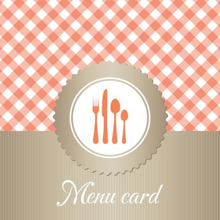 elegante ristorante carta del menu