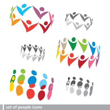 conjunto de iconos en 3D de las personas