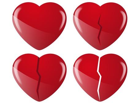 heartbreaking: broken hearts