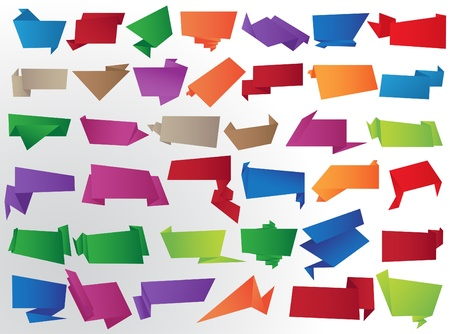 paper origami: origami banners