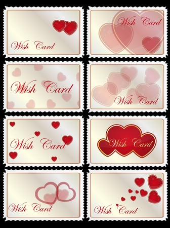 luminous: gift card with hearts