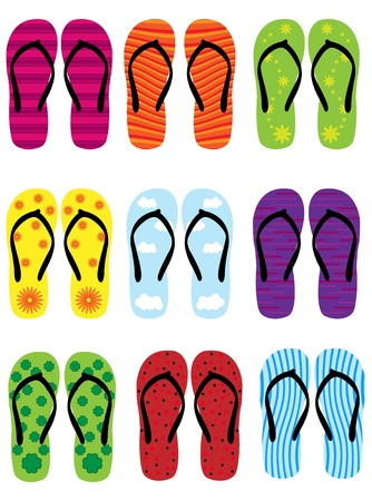flipflop: flip flops Illustration
