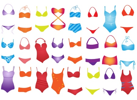 beach wear: swimsuit