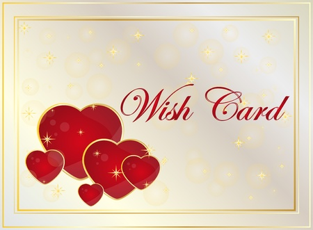closeness: wish card or background with hearts
