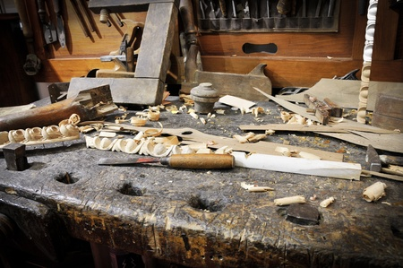 Old workbench Stock Photo - 11573057