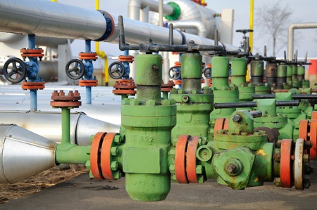 Industries of oil refining and gas,valve for oil Stock Photo - 11573867