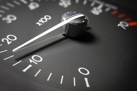 accelerating: Car dashboard dials
