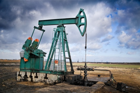 depletion: oil pump Stock Photo