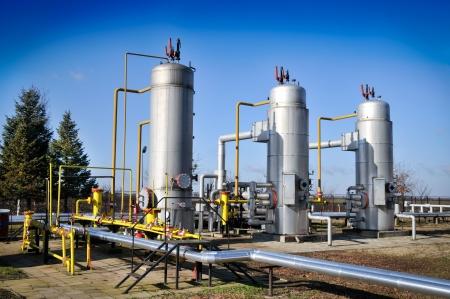 natural process: Oil industry,oil separators Stock Photo