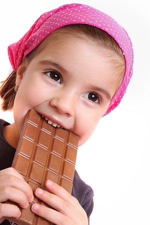 four year old: Girls eat chocolate